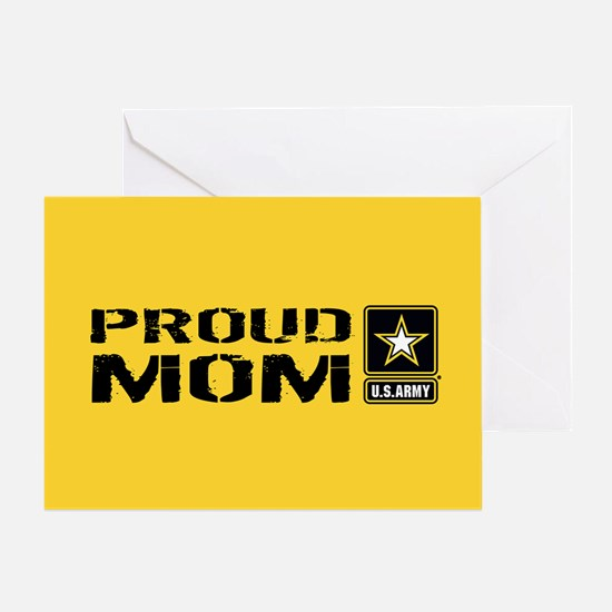 U.S. Army: Proud Mom (Gold) Greeting Card