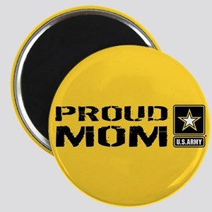 U.S. Army: Proud Mom (Gold) Magnet