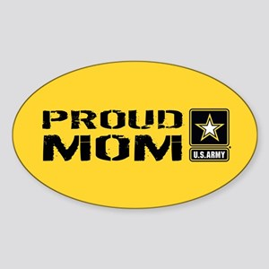 U.S. Army: Proud Mom (Gold) Sticker (Oval)