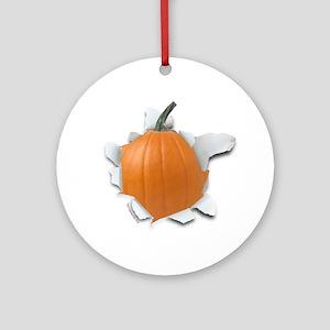 Pumpkin Burster Ornament (Round)