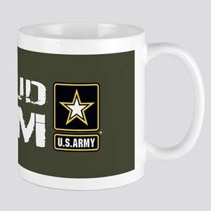 U.S. Army: Proud Mom (Military Green) Mug