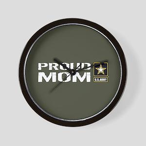 U.S. Army: Proud Mom (Military Green) Wall Clock