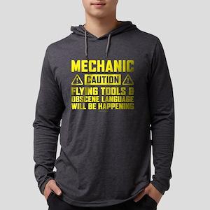 Caution Mechanic Long Sleeve T-Shirt