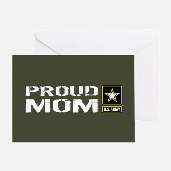 U.S. Army: Proud Mom (Military Green Greeting Card