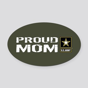 U.S. Army: Proud Mom (Military Gre Oval Car Magnet