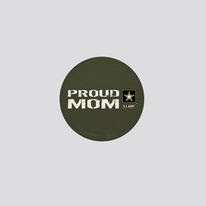 U.S. Army: Proud Mom (Military Green) Mini Button