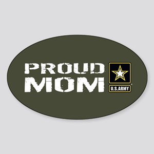 U.S. Army: Proud Mom (Military Gree Sticker (Oval)