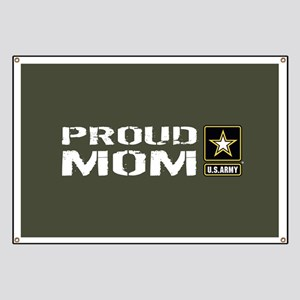 U.S. Army: Proud Mom (Military Green) Banner
