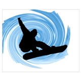 Snowboarder Wrapped Canvas Art