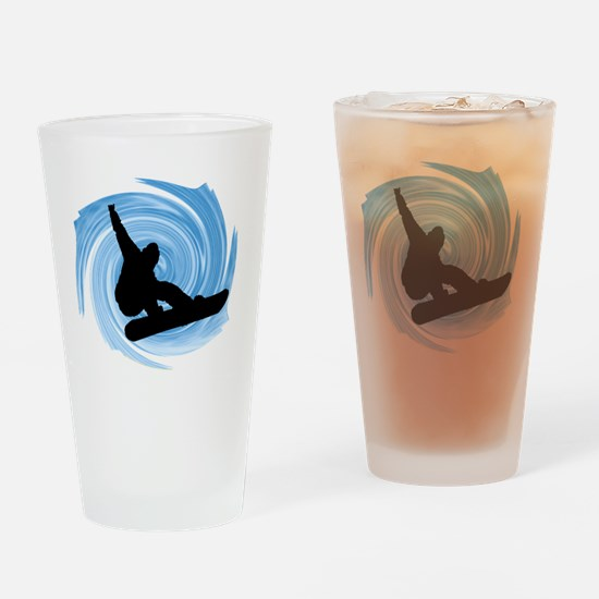 Cute Snowboard Drinking Glass
