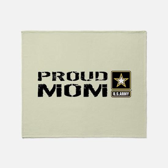 U.S. Army: Proud Mom (Sand) Throw Blanket