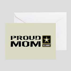 U.S. Army: Proud Mom (Sand) Greeting Card
