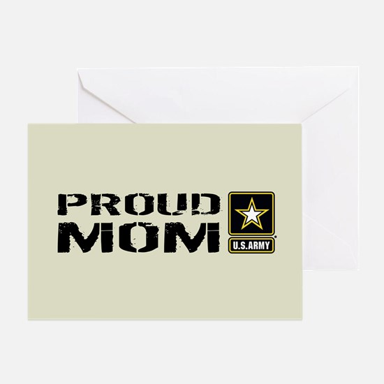 U.S. Army: Proud Mom (Sand) Greeting Card
