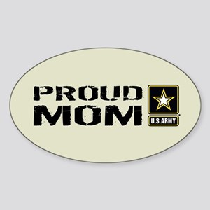 U.S. Army: Proud Mom (Sand) Sticker (Oval)