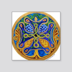 "Tree of Life Cross Mandala3"" Lapel Sticker (4"