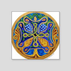 """Tree of Life Cross Mandala3"""" Lapel Sticker (4"""