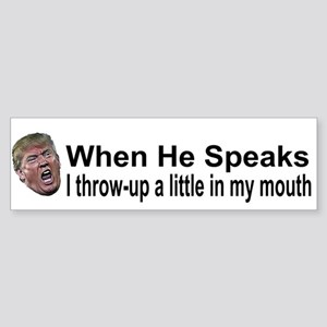 He Speaks Bumper Sticker