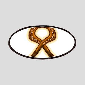 horse shoe orange ribbon Patch