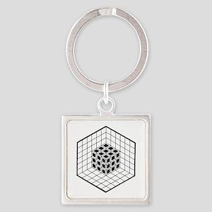Hexagon cube Keychains
