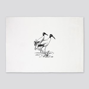 Nayrhcrel wood ibis 5'x7'Area Rug