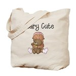 African American Baby and Bear Tote Bag