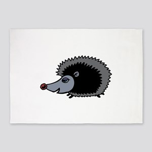 Cartoon Porcupine 5'x7'Area Rug