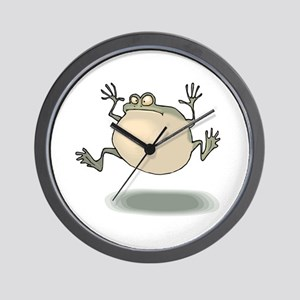 Frog Croaking Wall Clock