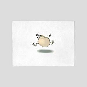 Frog Croaking 5'x7'Area Rug
