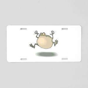 Frog Croaking Aluminum License Plate