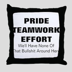 Bullshit  Throw Pillow