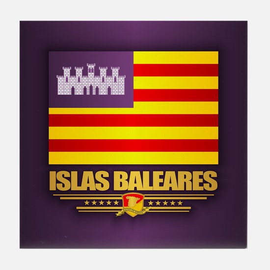 Islas Baleares Tile Coaster