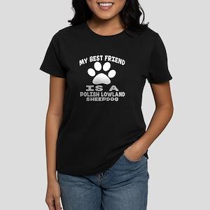 Polish Lowland Sheepdog Is My Women's Dark T-Shirt
