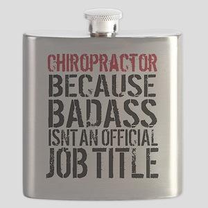 Chiropractor Badass Humor Flask