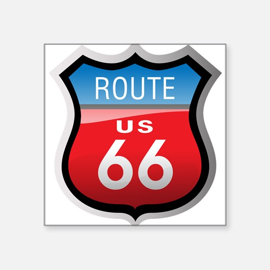 Route 66 Sign Rectangle Sticker