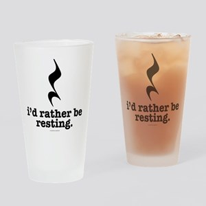 I'd Rather Be Resting Drinking Glass