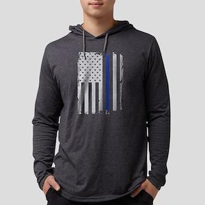Thin Blue Line Flag Long Sleeve T-Shirt
