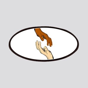 Touching hands Patch