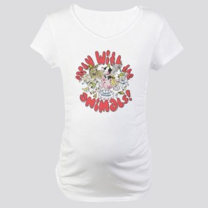 PARTY WITH THE ANIMALS Maternity T-Shirt