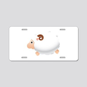 Fatty sheep cartoon Aluminum License Plate