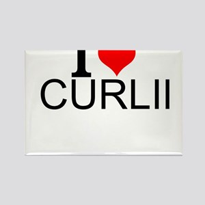 I Love Curling Magnets