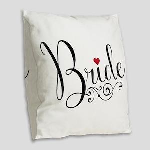 Elegant Bride Burlap Throw Pillow