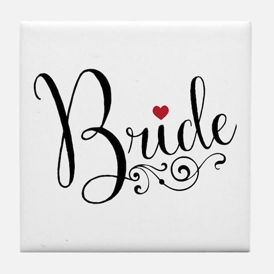 Elegant Bride Tile Coaster