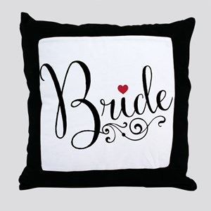 Elegant Bride Throw Pillow