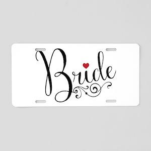 Elegant Bride Aluminum License Plate