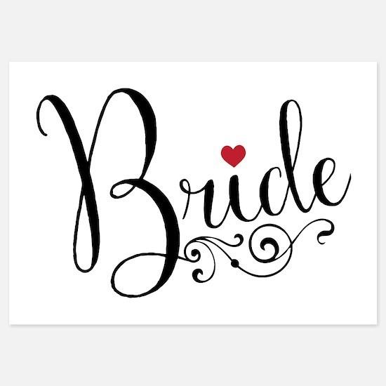 Elegant Bride 5x7 Flat Cards