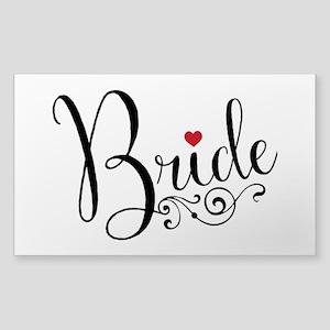 Elegant Bride Sticker (Rectangle)