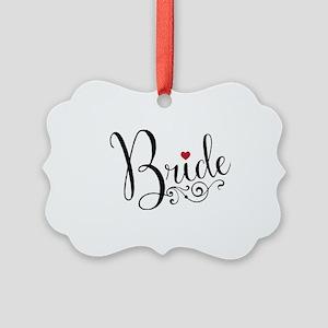 Elegant Bride Picture Ornament