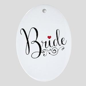 Elegant Bride Oval Ornament