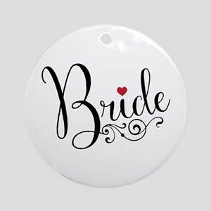 Elegant Bride Round Ornament