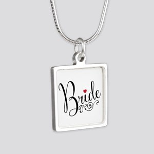 Elegant Bride Silver Square Necklace